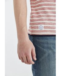 Native Youth - Natural Reverse Textured Stripe Crew Neck Tee for Men - Lyst