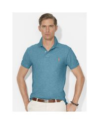 Polo Ralph Lauren | Blue Slim-Fit Mesh Polo for Men | Lyst