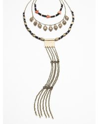 Free People | Black Womens Chain Ladder Necklace | Lyst