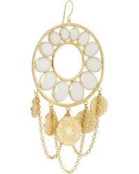 Isharya - Metallic Hasina Enameled Gold-Plated Earrings - Lyst
