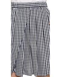N°21 - Gingham Skirt - Black/White - Lyst