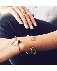 Bing Bang | Metallic Temple Amulet Cuff | Lyst