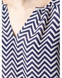 Joie - Blue Zigzag Print Top - Lyst