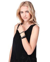 Pieces - Black Bracelet - Lyst