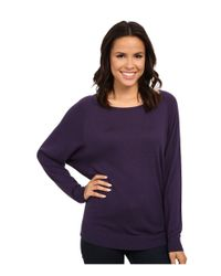 Splendid | Purple Cashmere Blend Dolman Top | Lyst