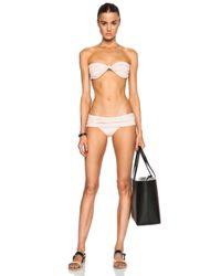 Norma Kamali - Pink Strapless Goddess Bikini Top - Lyst