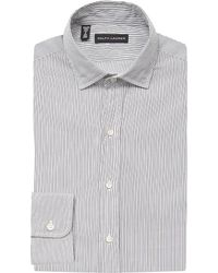 Ralph Lauren Black Label | Gray Slim-fit Cotton Shirt for Men | Lyst
