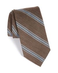 John W. Nordstrom | Brown 'terrano' Stripe Wool & Silk Tie for Men | Lyst