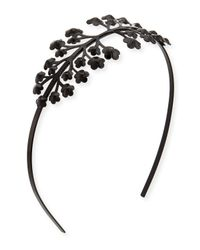 Tuleste - Black Florette Metal Headband - Lyst