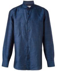 Brioni - Blue Check Print Shirt for Men - Lyst