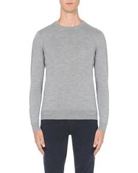 Armani Jeans | Gray Crew-neck Wool Jumper for Men | Lyst