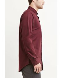 Forever 21 | Red Cotton-blend Pocket Shirt for Men | Lyst