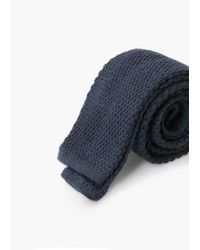 Mango | Blue Knit Wool Tie for Men | Lyst