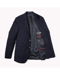 Tommy Hilfiger | Blue Rebel Wool Fitted Blazer for Men | Lyst