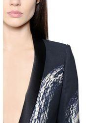 Just Cavalli - Black Snake Print Stretch Viscose Cady Jacket - Lyst