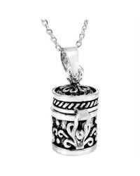 Aeravida - Metallic Heart Prayer Box Keepsake .925 Silver Pendant - Lyst