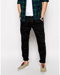 G-Star RAW - Black G Star Jeans Elwood 3d Low Tapered Color Denim for Men - Lyst