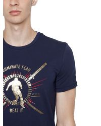 Bikkembergs - Blue Katana Printed Cotton Jersey T-shirt for Men - Lyst