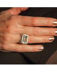 Anne Sisteron - Multicolor 14kt White Gold Diamond Aquamarine Rectangle Ring - Lyst