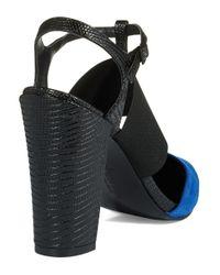 Charles by Charles David | Blue Posh Chunky Heels | Lyst