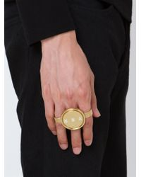 Hood By Air | Metallic 'hba' Multi Finger Ring for Men | Lyst