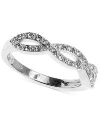 Judith Jack - Metallic Sterling Silver Crystal Crisscross Braid Ring - Lyst
