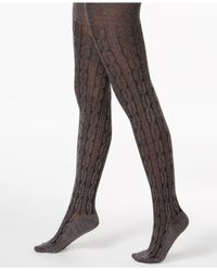 Hue | Brown Bold Cable Sweater Tights | Lyst