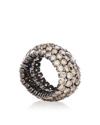 Sidney Garber | Brown Diamond Flexible Ring | Lyst