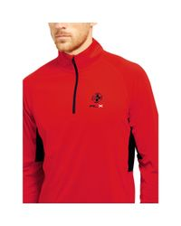 """Ralph Lauren - Red """"rlx"""" Jersey Half-zip Pullover for Men - Lyst"""