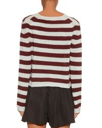 Marni | Purple Striped Cashmere Sweater | Lyst