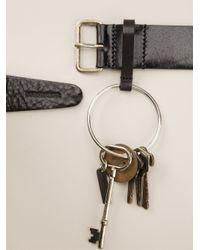 DSquared² - Black Key Ring Belt for Men - Lyst