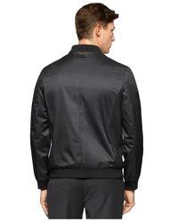 Calvin Klein | Black Textured Nylon Light Jacket for Men | Lyst