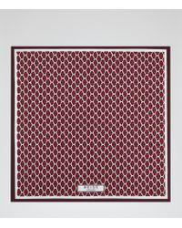 Reiss - Red Santa Cruz Silk Pocket Square for Men - Lyst