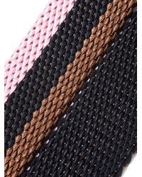 Andersons - Pink Leather-Trimmed Elasticated Woven Belt for Men - Lyst