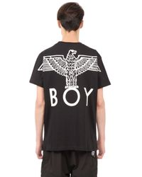 BOY London - Black Boy Eagle Printed Cotton T-shirt for Men - Lyst