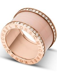 Michael Kors | Pink Mkj4332791 Ladies Ring (size 7) | Lyst