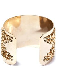 DANNIJO - Metallic Gold-plated Simone Crystal Cuff - Lyst