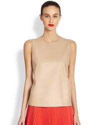Akris Punto | Natural Leather Combo Top | Lyst