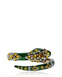 Roberto Cavalli | Green Snake Bracelet With Swarovski Crystals | Lyst