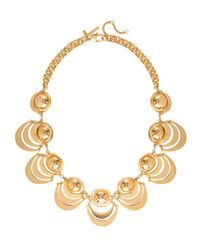 Lele Sadoughi - Metallic Orbit Necklace Gold - Lyst