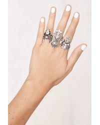 Nasty Gal | Metallic Miss Behaving Ring Set | Lyst