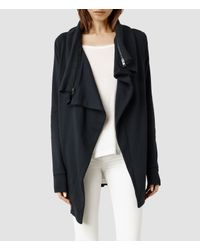 AllSaints - Blue Dahlia Sweatshirt - Lyst