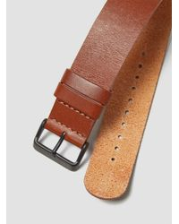 TID - Brown Leather Wristband Tan for Men - Lyst