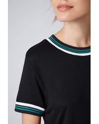 TOPSHOP - Womens Sports Trim Tshirt All in One Black - Lyst