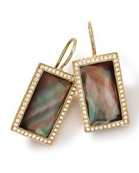 Ippolita | Multicolor 18k Gold Gelato Small Baguette Black Shell Earrings With Diamonds | Lyst