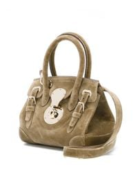 Ralph Lauren - Brown Small 'ricky' Drawstring Tote - Lyst