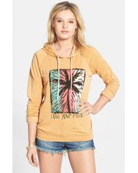 Volcom - Orange 'crowd Pleaser' Graphic Hoodie - Lyst