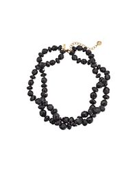 kate spade new york | Black Give It A Swirl Twisted Necklace | Lyst