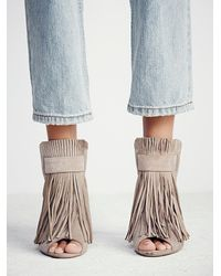 Free People - Brown Stardust Fringe Heel - Lyst