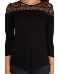 C&C California - Long Sleeve Lace Top in Black - Lyst